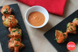 Spicy Patatas Bravas from A Spoonful of Spain