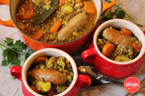 Lentils with chorizo stew