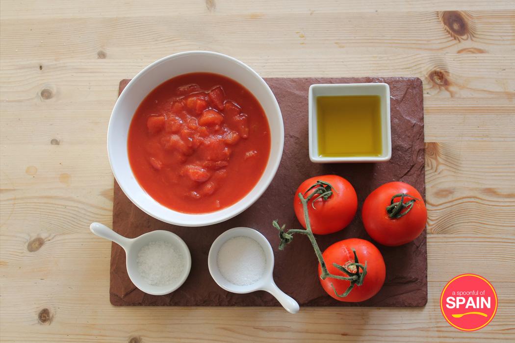 Spanish Tomato Sauce Ingredients