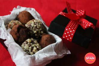 Chocolate Truffles with Orange Blossom Water and Almonds from A Spoonful of Spain