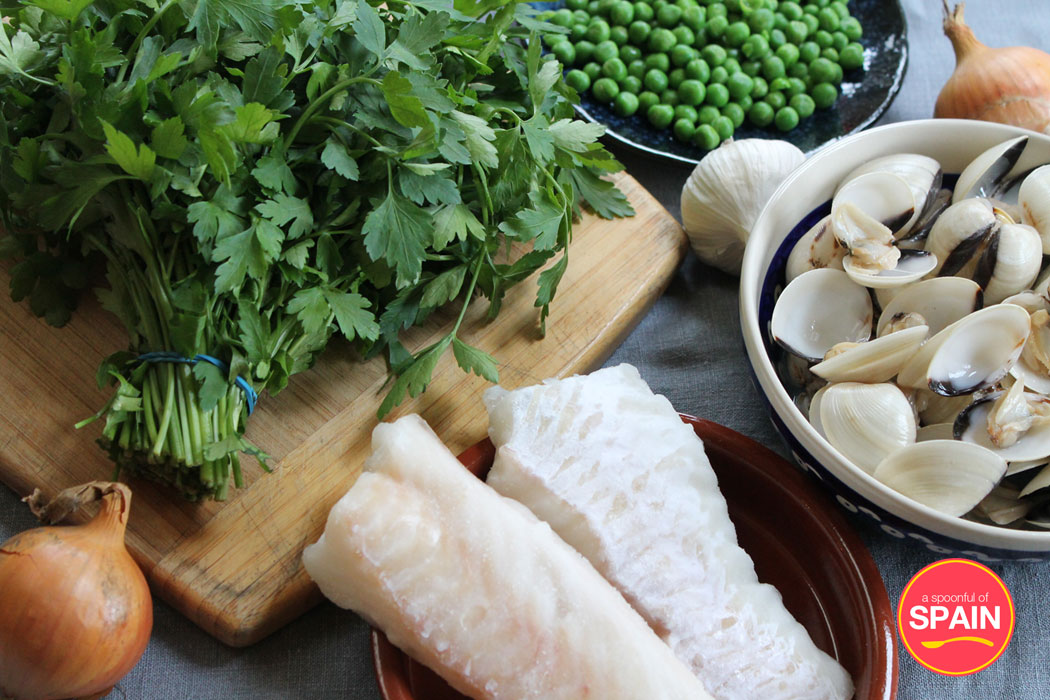 Hake with Salsa Verde and Clams ingredients by A Spoonful of Spain